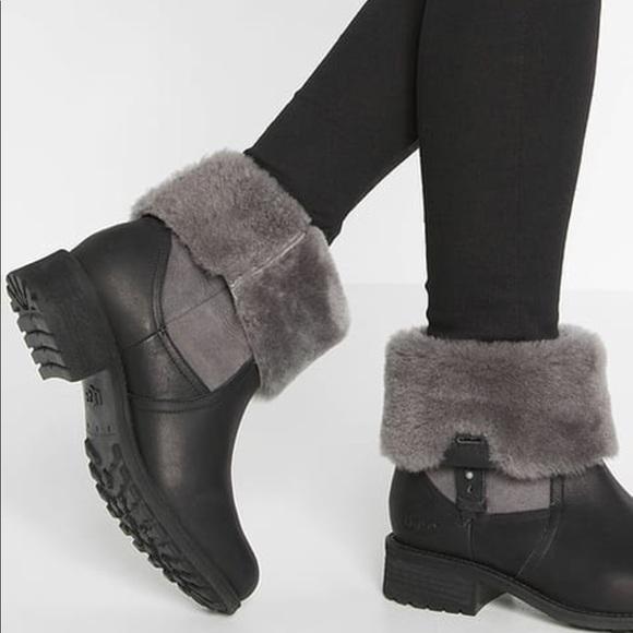 ugg australia black chyler boots